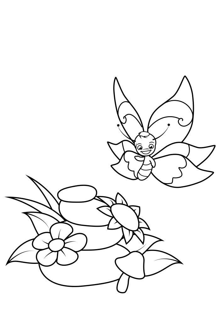borboleta para colorir 1