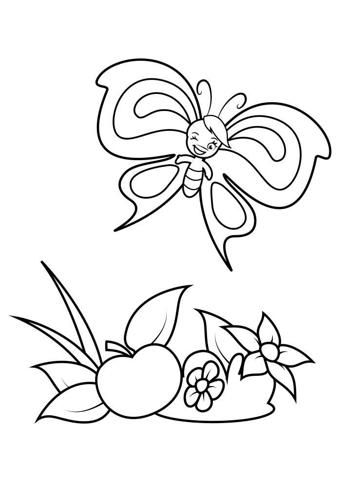 borboleta para colorir 10