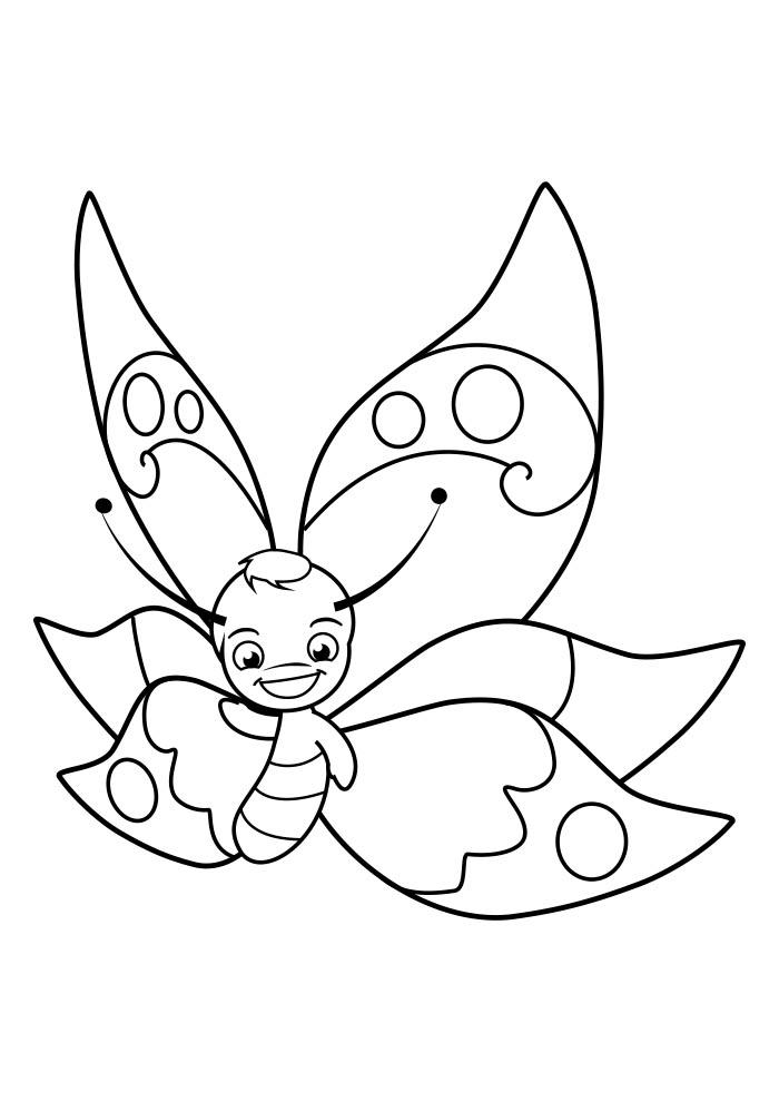 borboleta para colorir 13