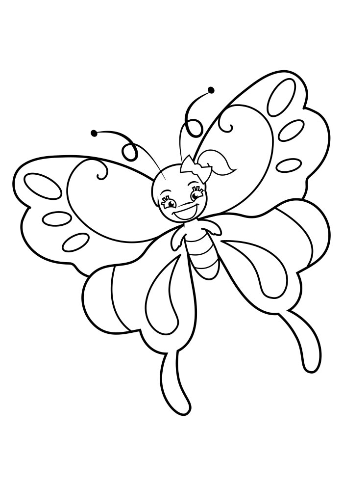 borboleta para colorir 14