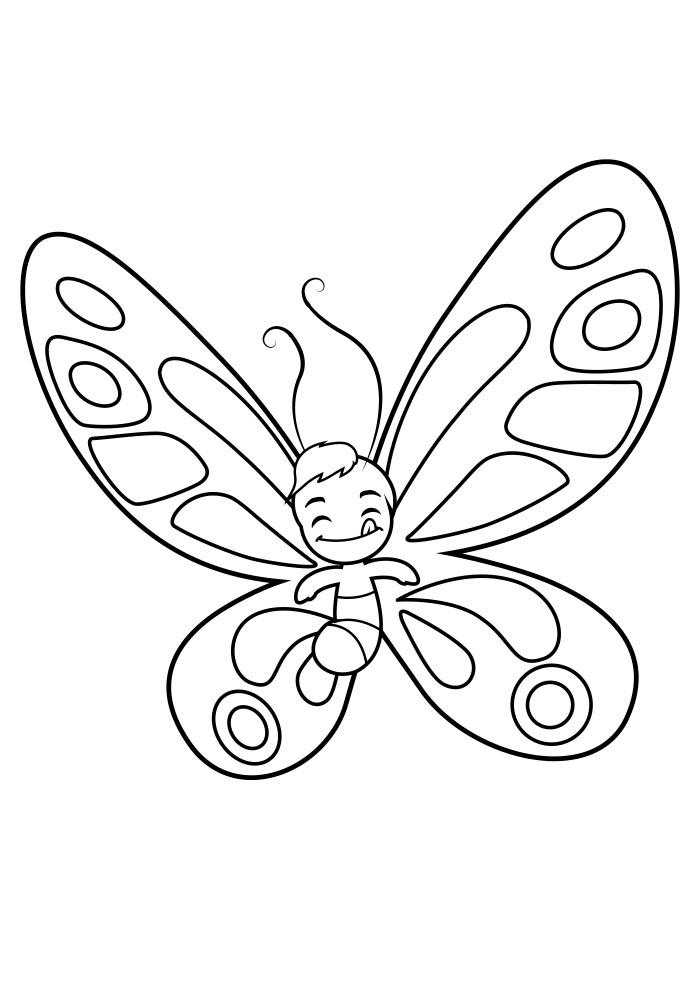 borboleta para colorir 16