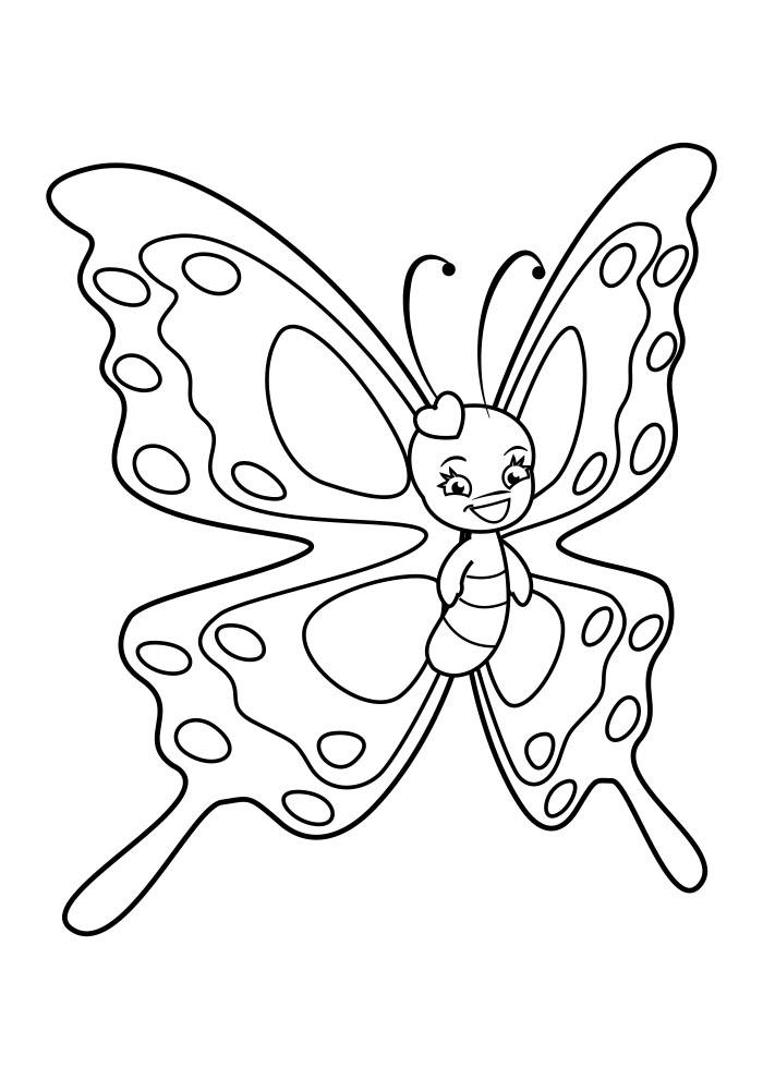 borboleta para colorir 18