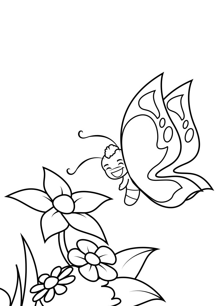 borboleta para colorir 2