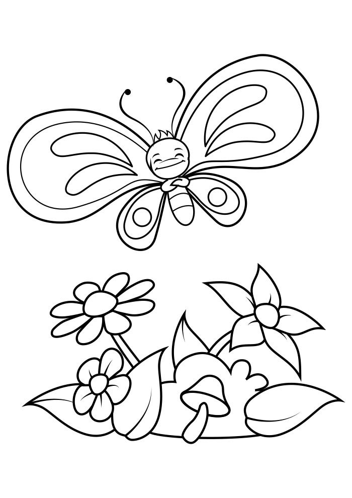 borboleta para colorir 3