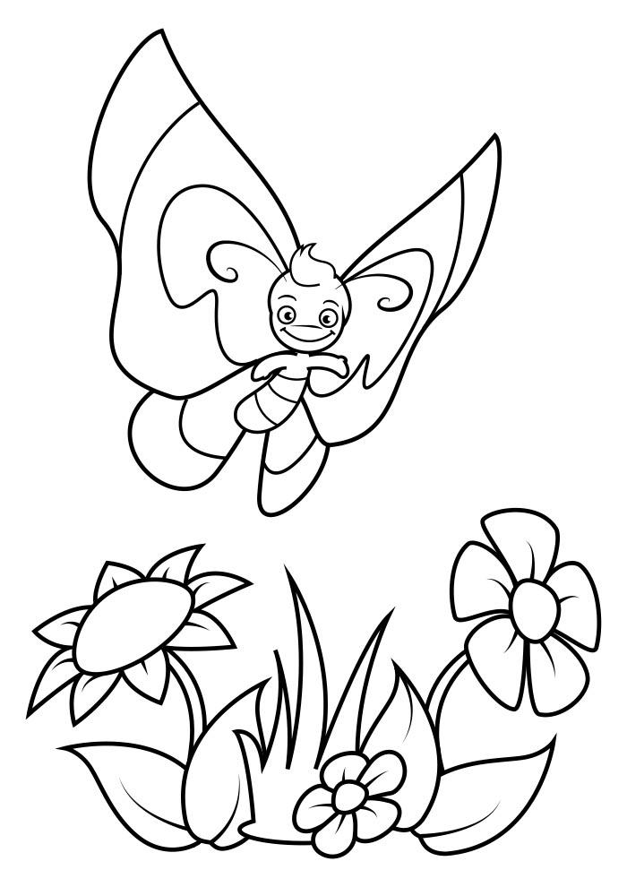 borboleta para colorir 4