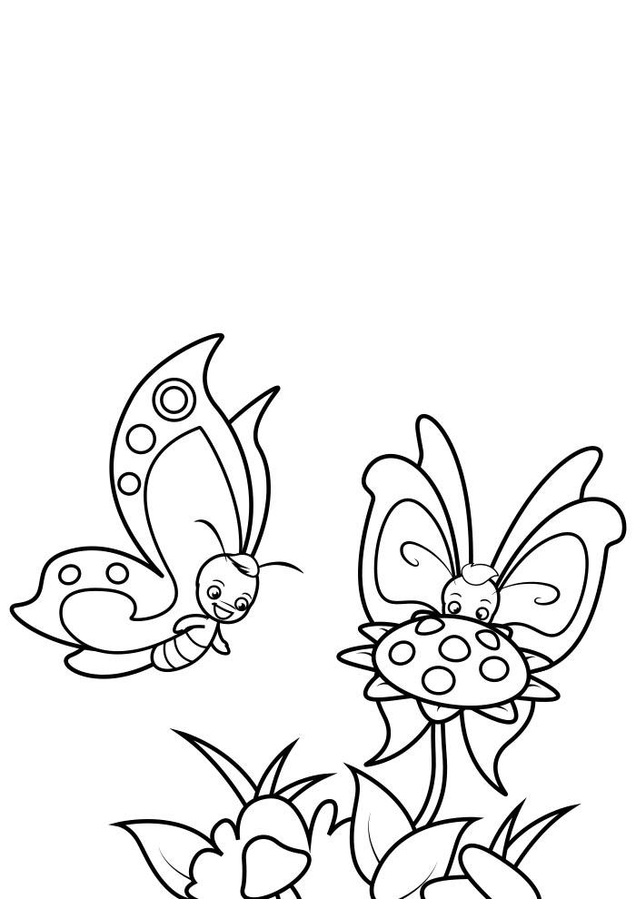 borboleta para colorir 8