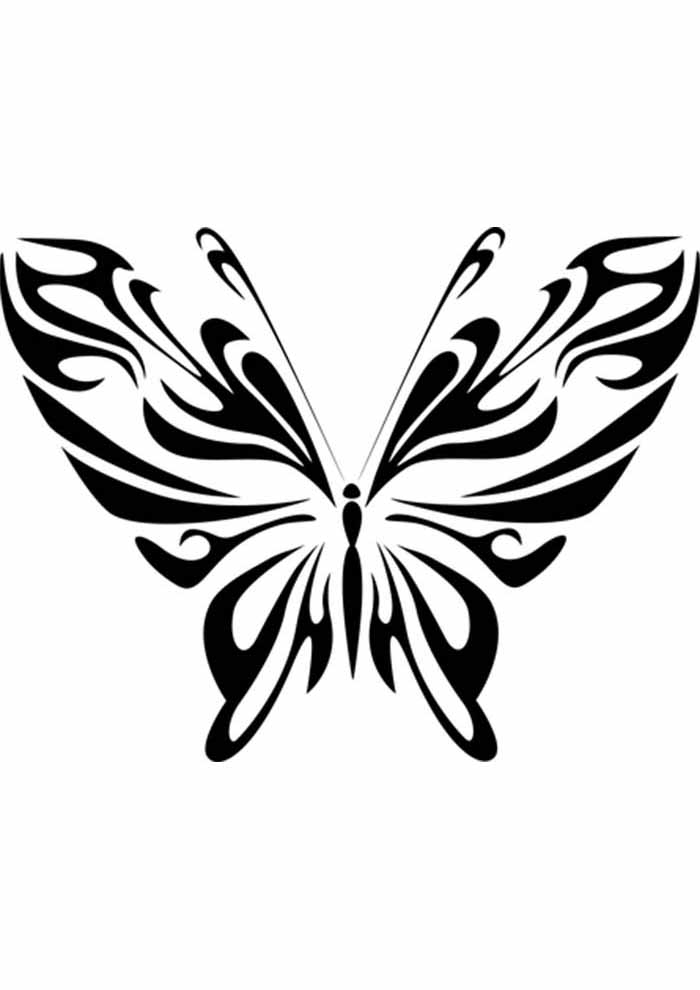 borboleta para colorir aberta
