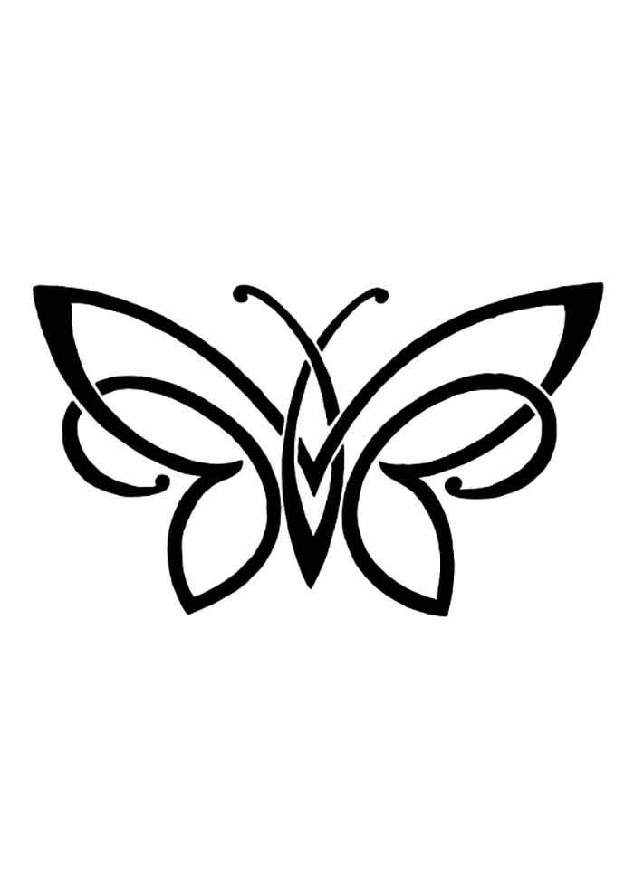 borboleta para colorir artistica