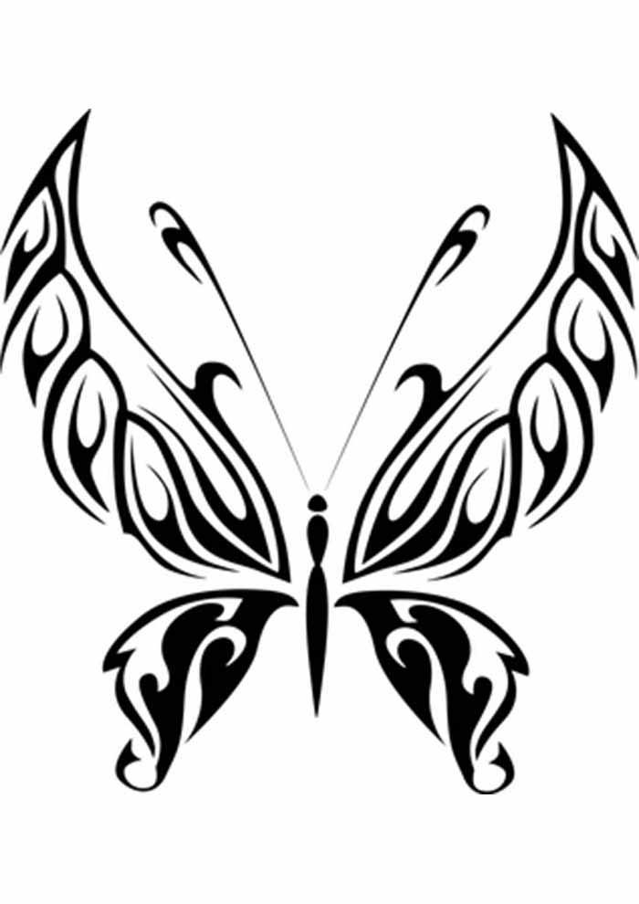 borboleta para colorir asas pontudas