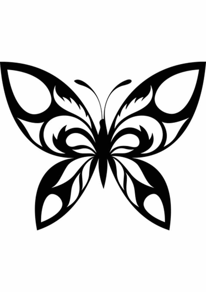 borboleta para colorir asas