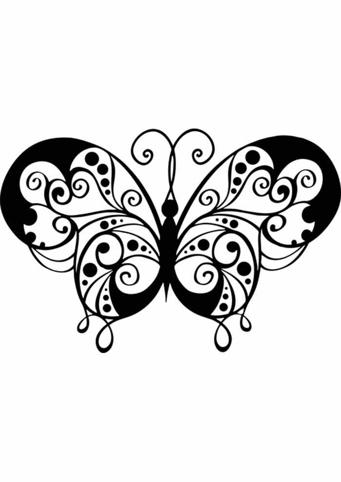 borboleta para colorir desenho
