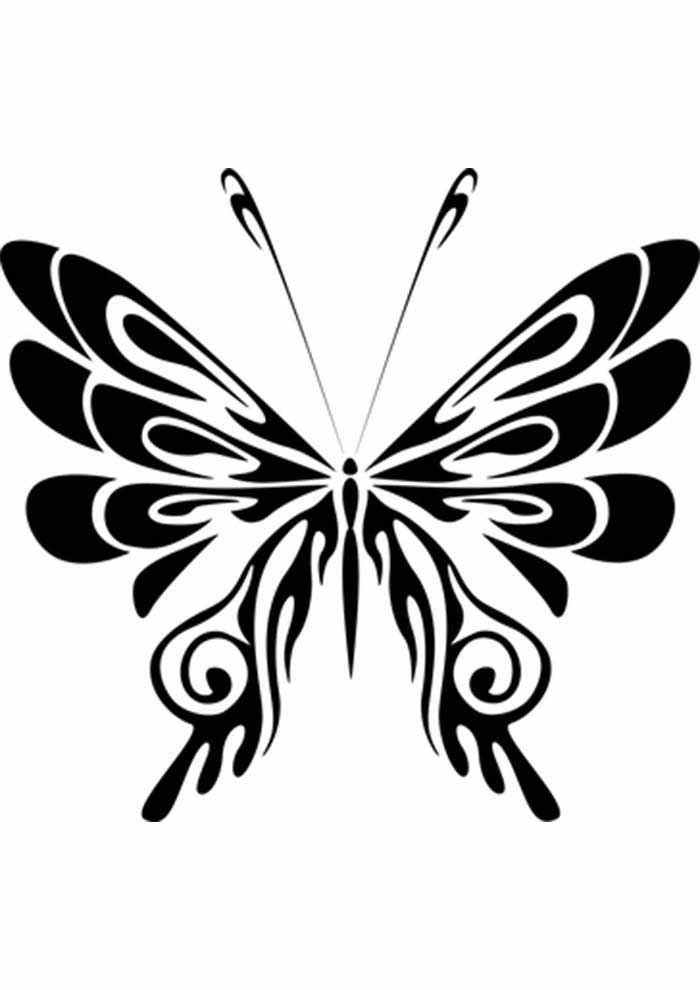 borboleta para colorir estilizada