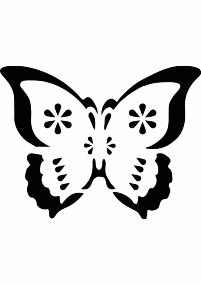 borboleta para colorir fácil