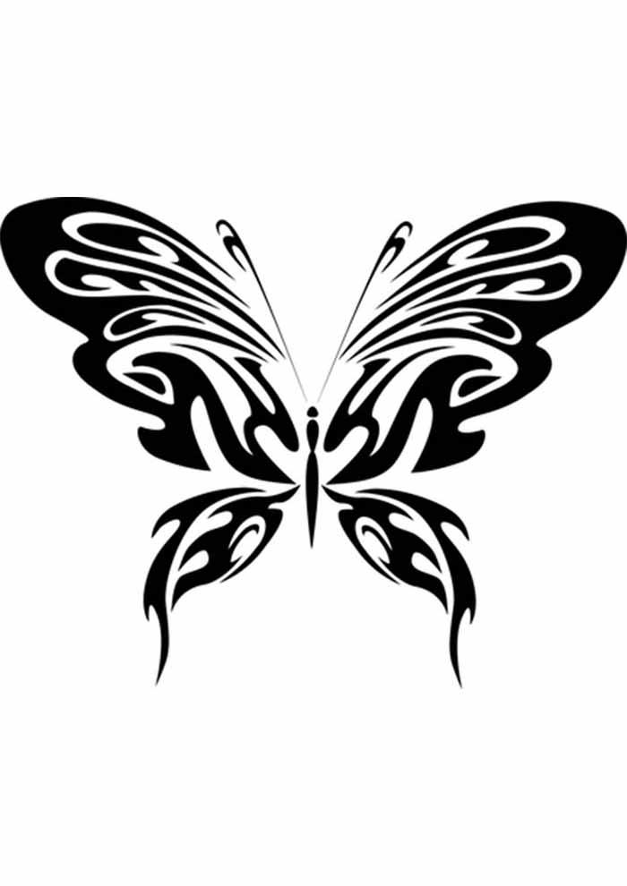 borboleta para colorir linda