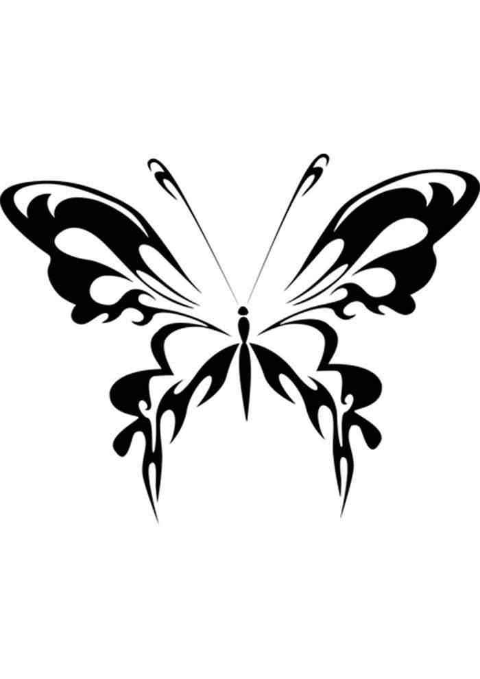 borboleta para colorir simples