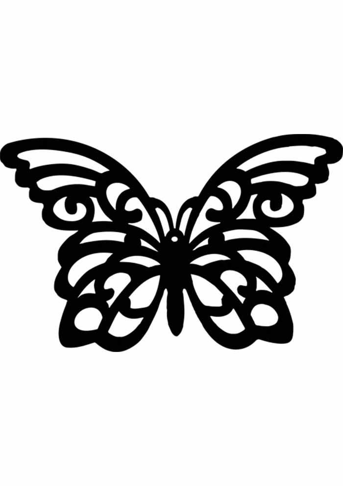 borboleta para colorir vazada
