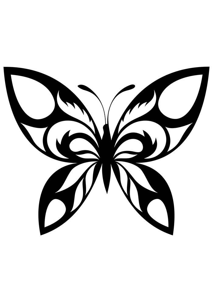 borboleta voando para colorir
