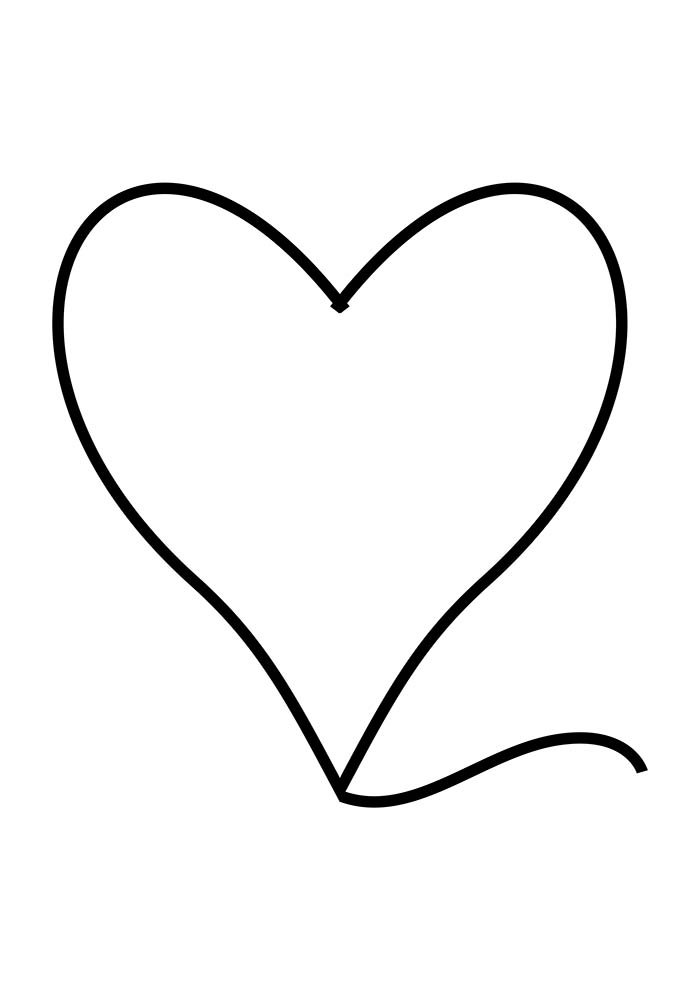 borda de coração para imprimir
