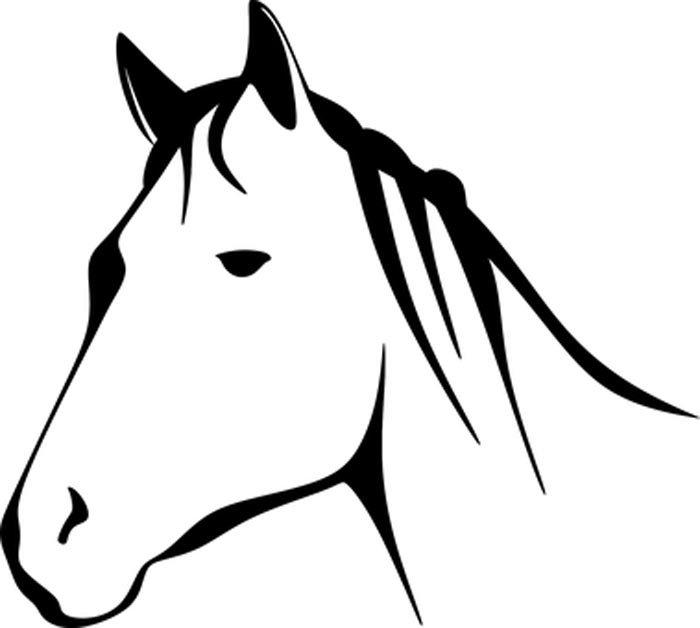 Cabeça de cavalo para colorir