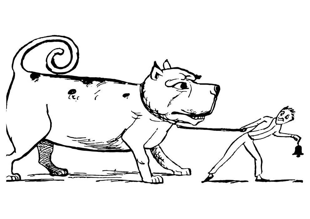 cachorro gigante para colorir