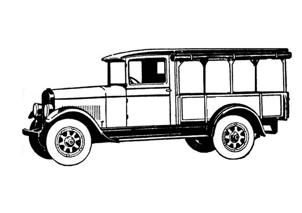 caminhão antigo para colorir