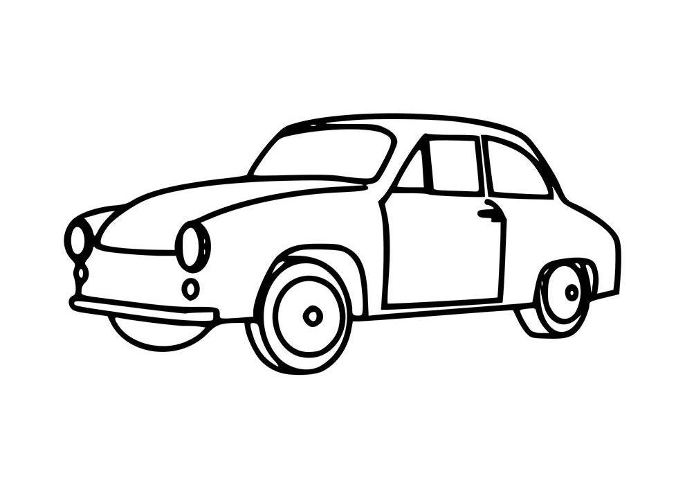 carro anos 40 para colorir