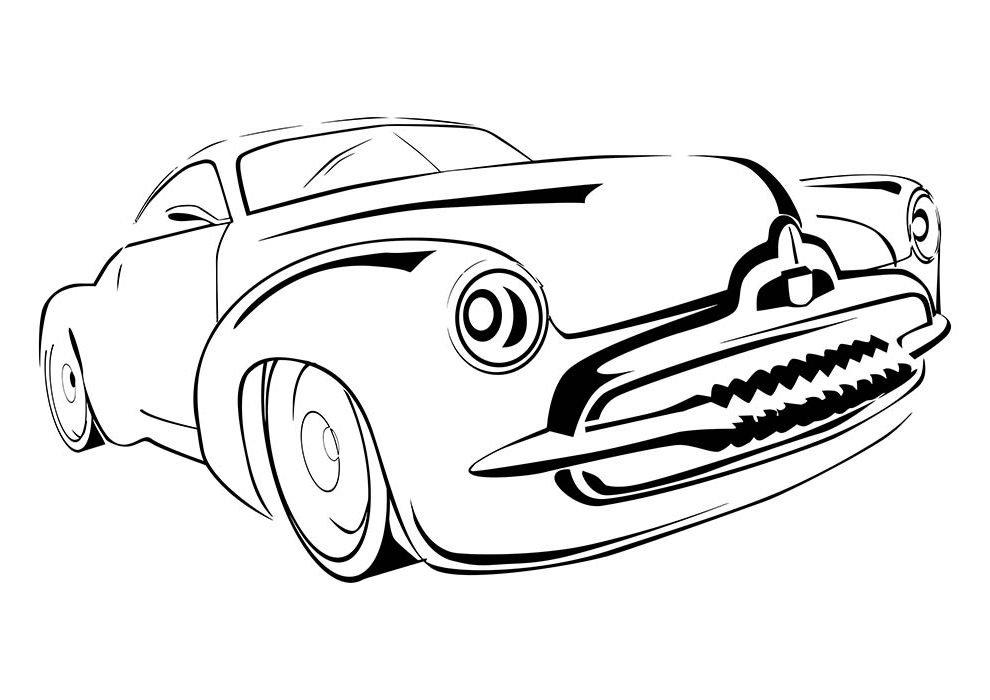 carro tubarão para colorir