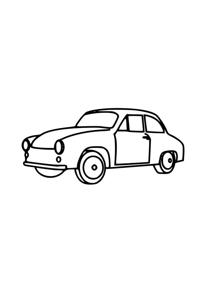 56 Desenhos de Carros para Colorir