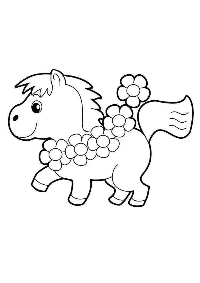 cavalo para colorir 34