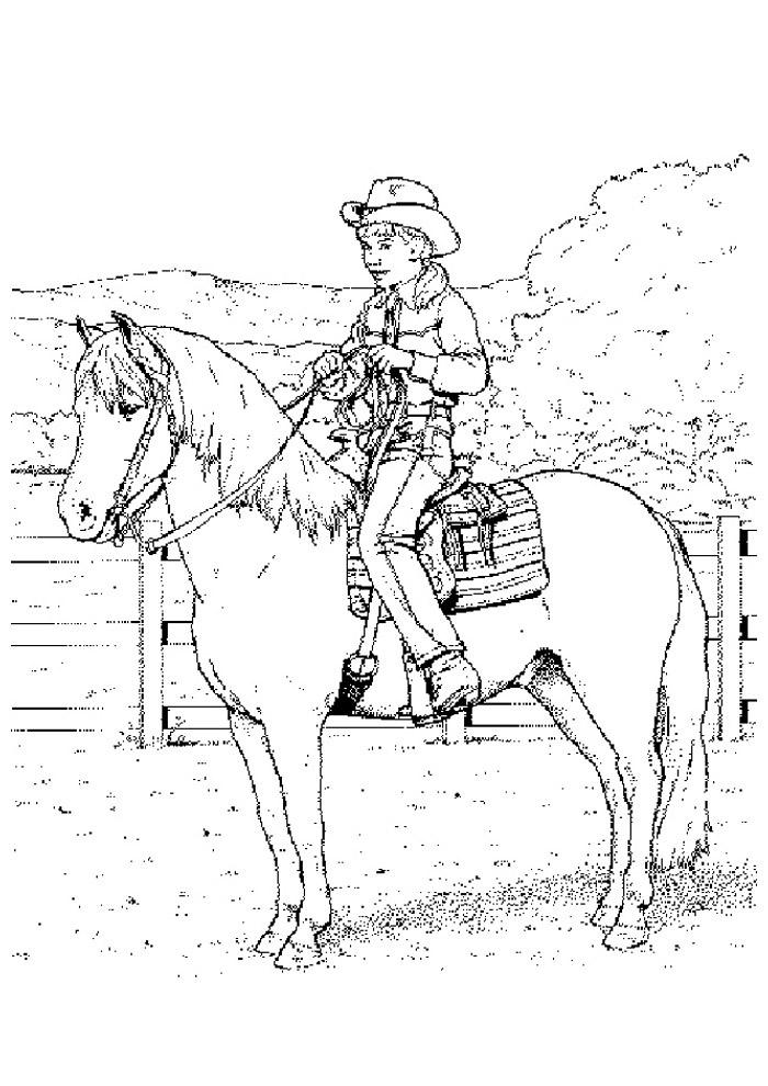 cavalo para colorir 40