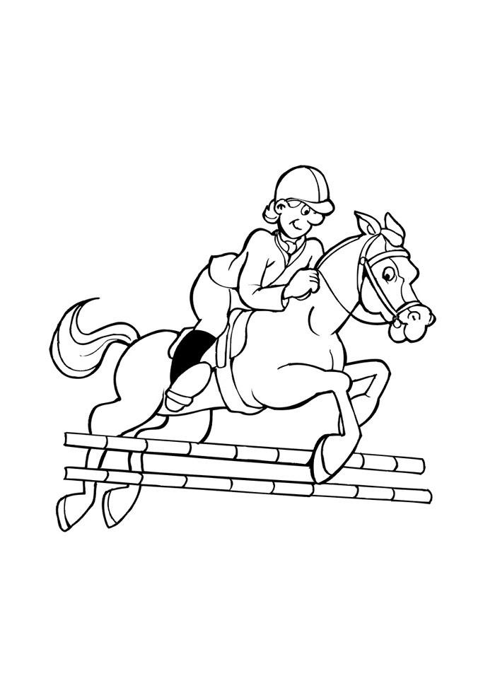 cavalo para colorir 44