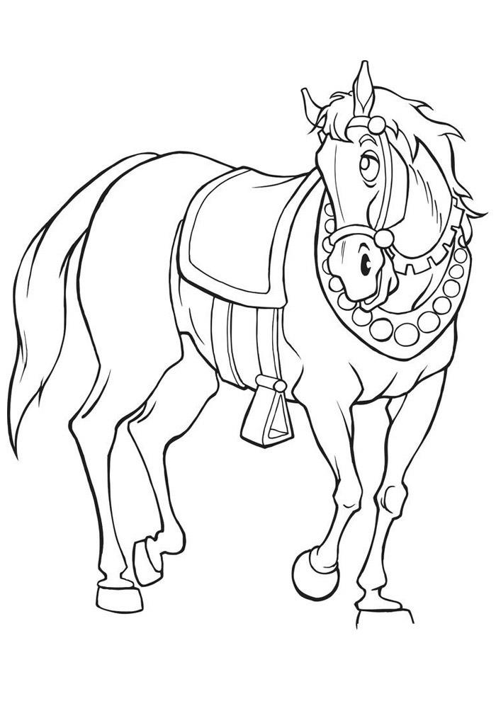 cavalo para colorir 45