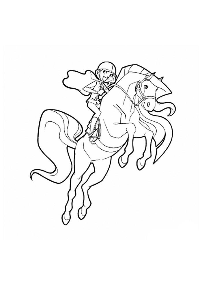 cavalo para colorir 46