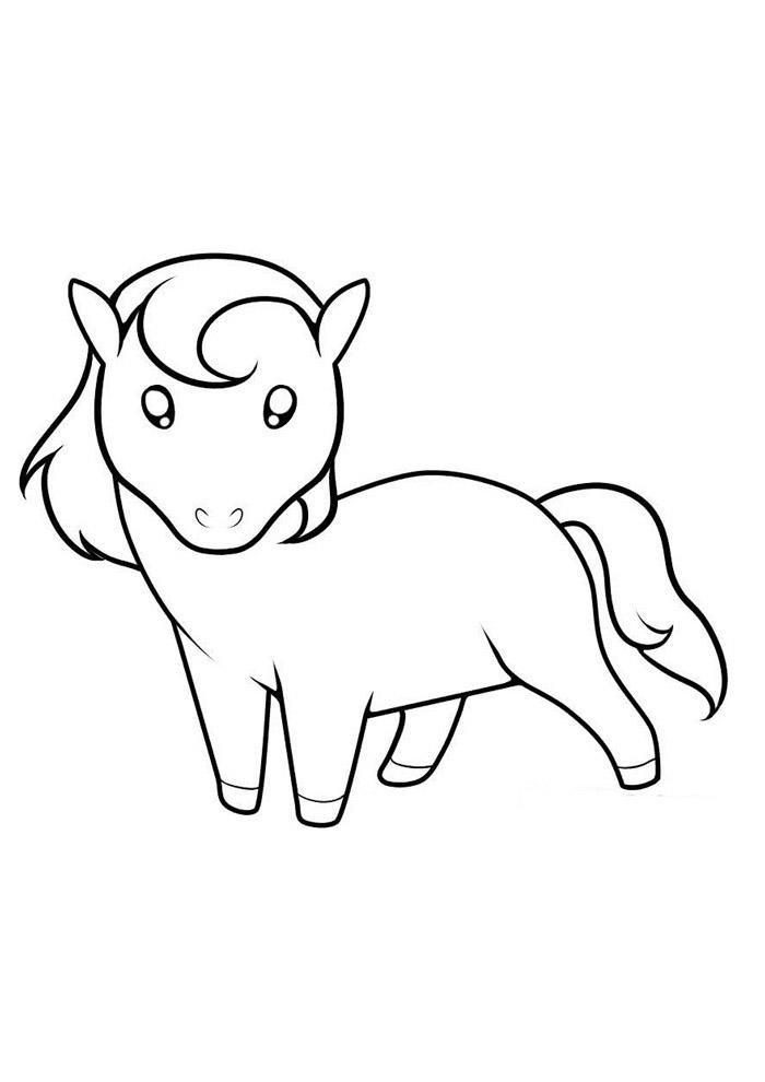 cavalo para colorir 54