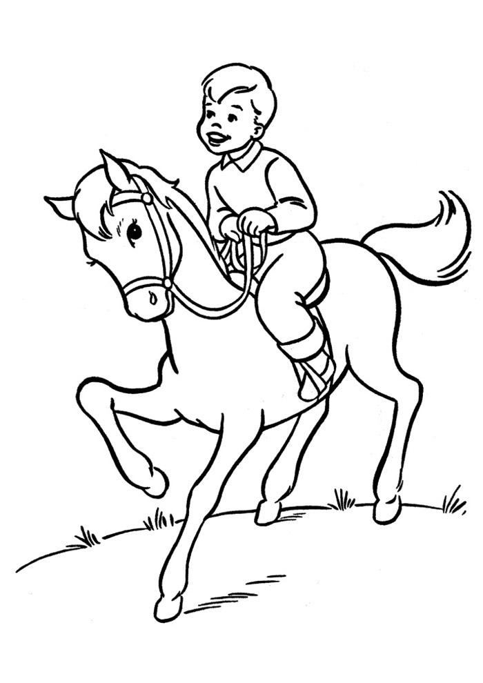 cavalo para colorir 58