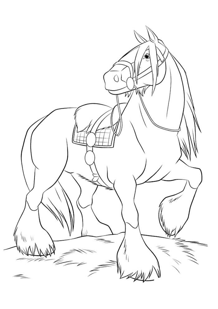 cavalo para colorir 61