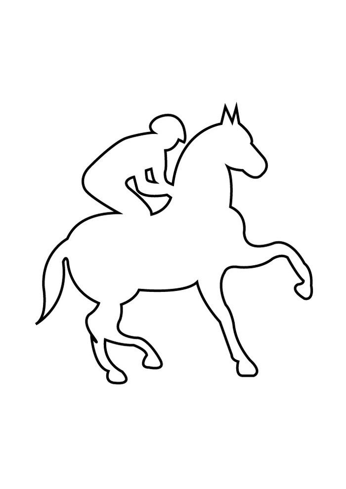 cavalo para colorir 74