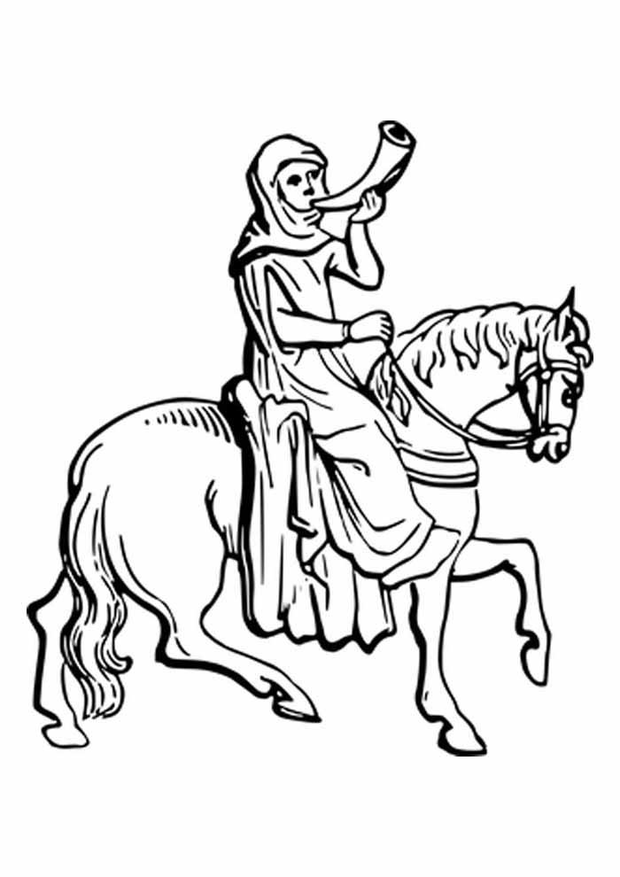cavalo para colorir amazonas montada