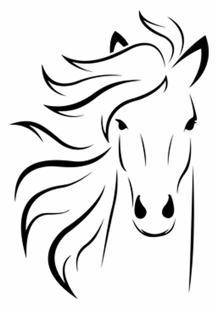 cavalo para colorir cabeça grande