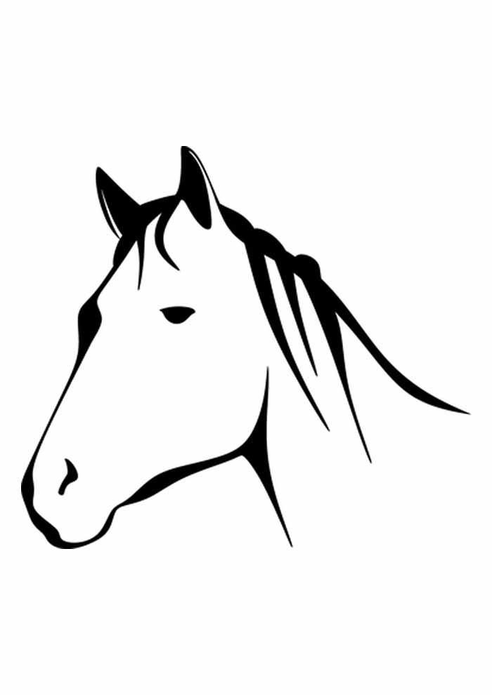 cavalo para colorir cabeça