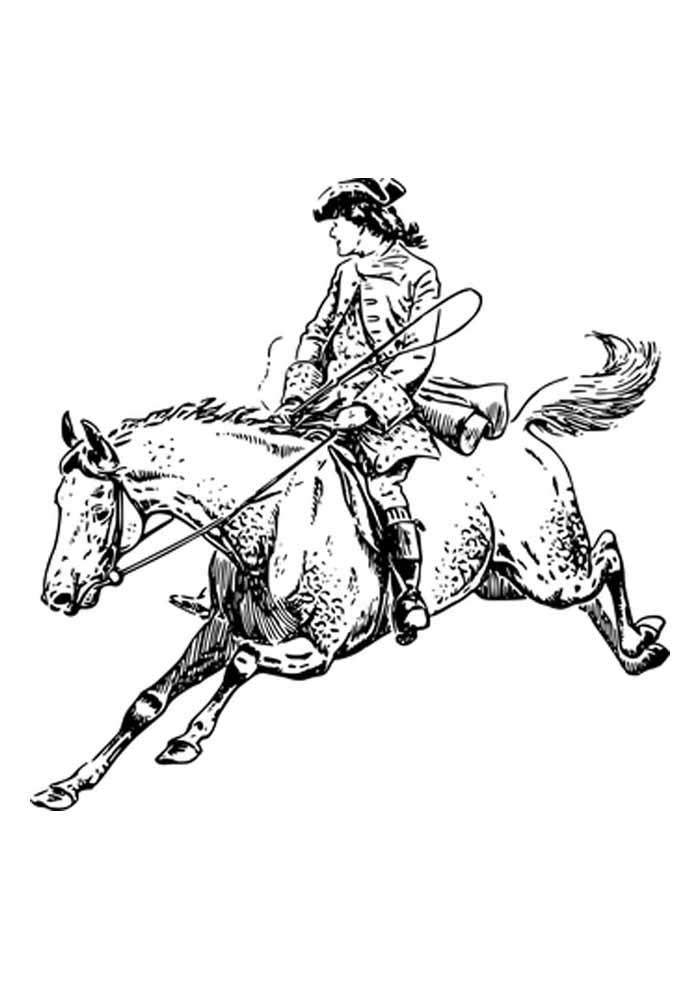 cavalo para colorir correndo