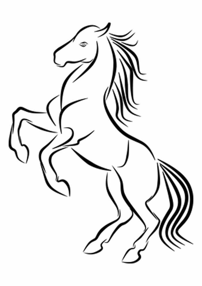 cavalo para colorir empinando