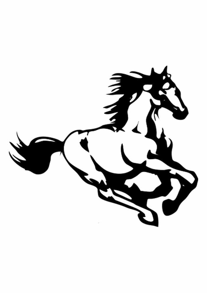cavalo para colorir galopando