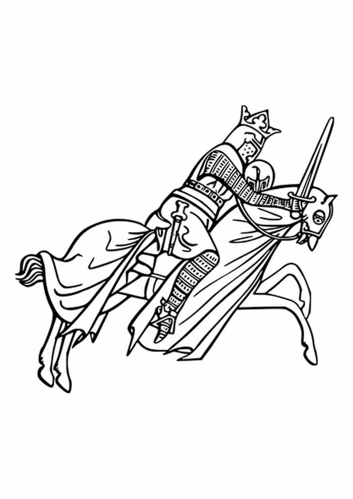 cavalo para colorir guerreiro