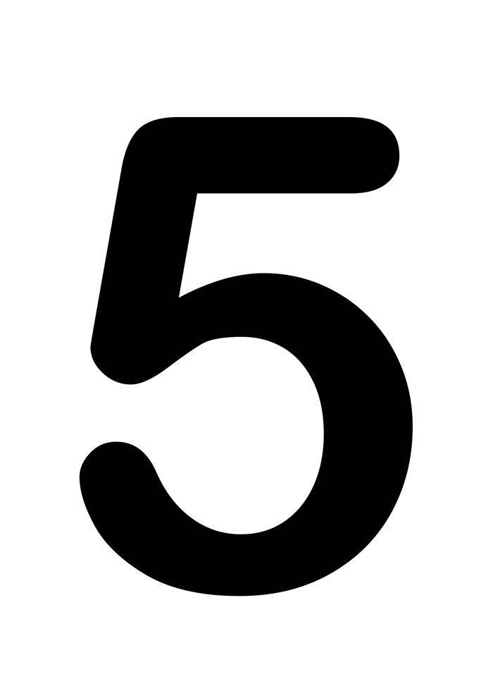 número cinco para imprimir