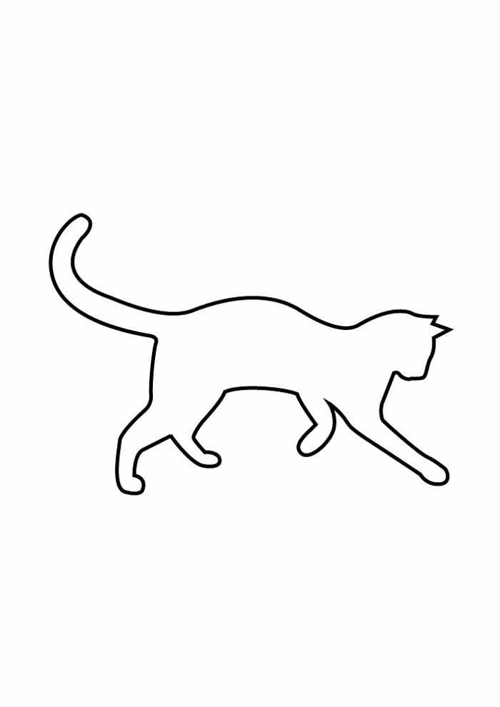 contorno de gato para colorir