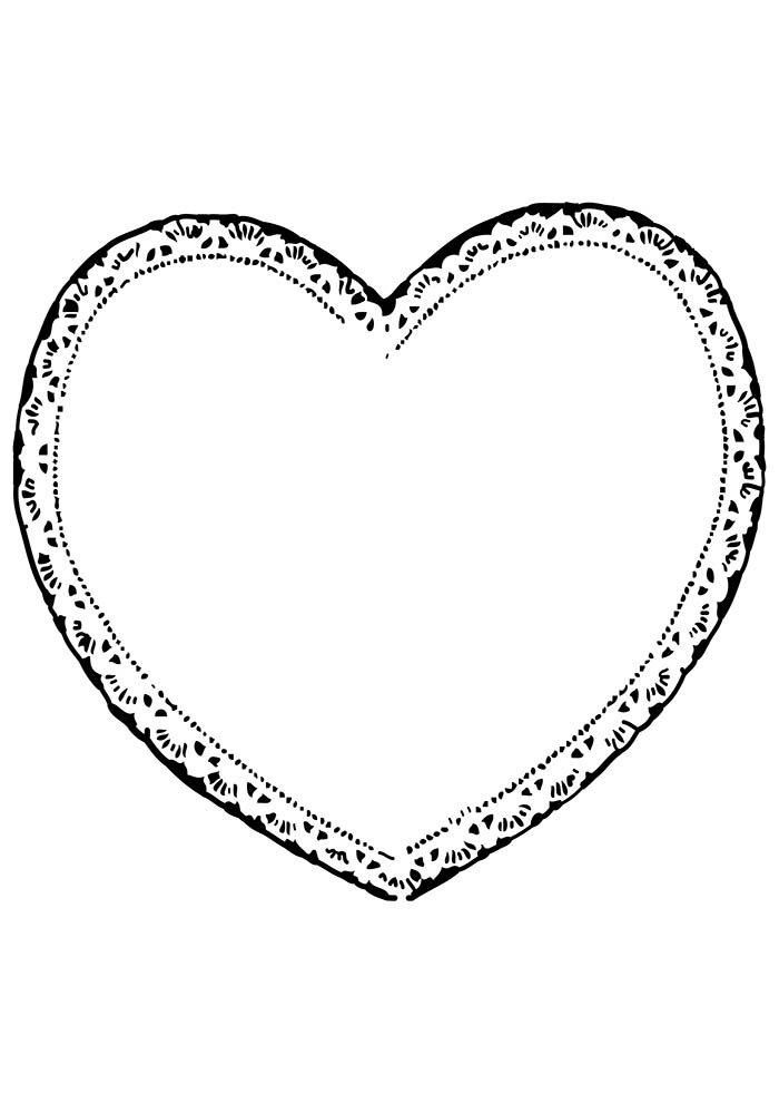 coração borda romântica