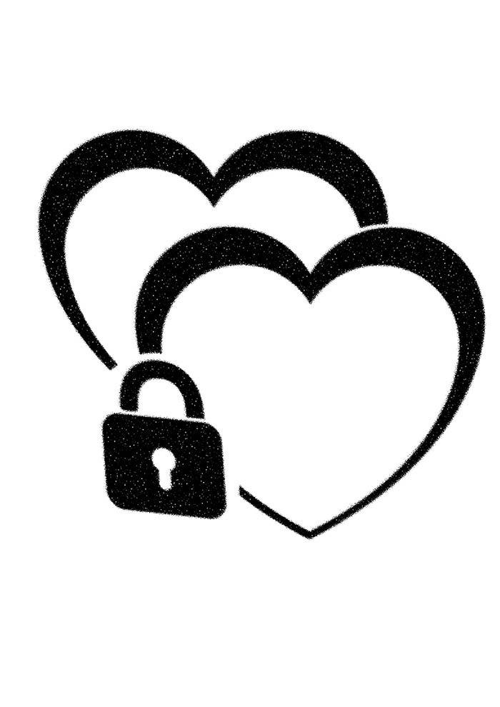 coração duplo com cadeado