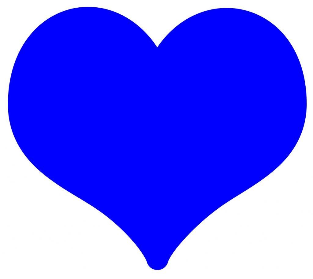 coracao emoji azul significado