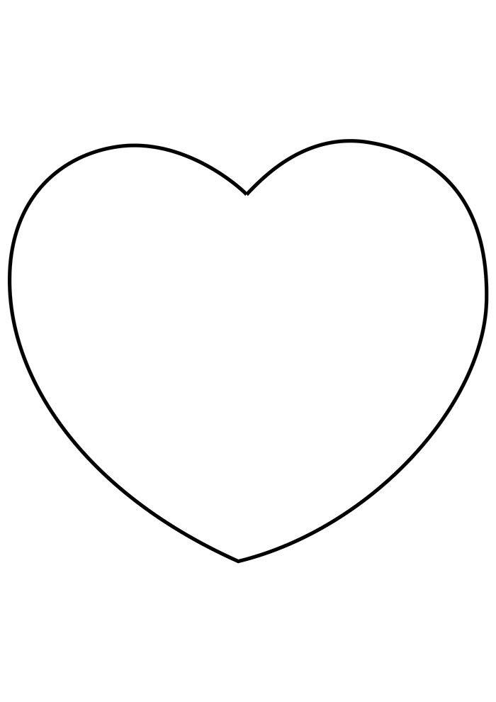 coração para colorir grande